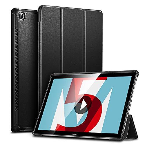 ESR Hülle kompatibel mit Huawei MediaPad M5 / M5 Pro Hülle 10,8 Zoll - Ultra dünnes Yippee Trifold Smart Case mit Auto Schlaf-/Wachfunktion & Standfunktion - Schutzhülle mit PC Rückseite - Schwarz