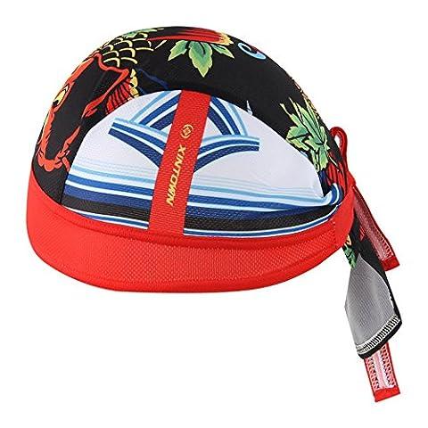 HYSENM Men Fashion Quick Dry Breathable Cycling Sports Bandana Cap Headscarf Helmet Liner Headwear Hat Sun UV Protection,