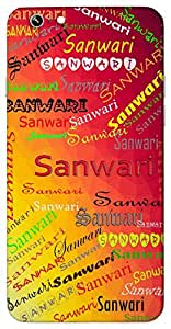 Sanwari (Popular Girl Name) Name & Sign Printed All over customize & Personalized!! Protective back cover for your Smart Phone : Lenovo K-5 PLUS