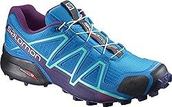 Salomon Women Speedcross 4 Trail Running Shoes, Blue (Hawaiian Surfastral Auragrape Jui), 9.5 Uk (44 Eu)