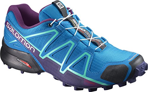 Salomon Speedcross 4 Damen Traillaufschuhe, Blau (Hawaiian Surf/Astral Aura/Grape jui), 40 2/3 EU