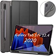 OKJ Galaxy Tab S7 Plus 12.4 case 2020, Shockproof Slim Cases for Samsung Galaxy Tab S7+ 12.4 with S Pen Holder