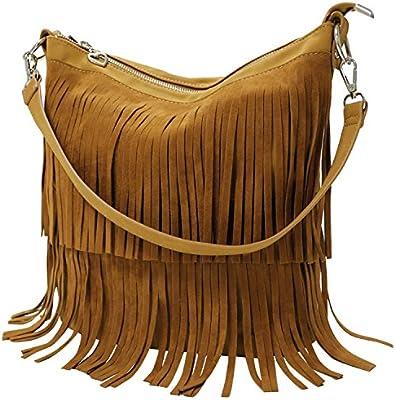KIPTOP Novedad Moda y Retro bolsos Con flecos de PU Mensajero Bolsos para mujer ocio con estilo muchacha correa ajustable del bolso del bolso del mensajero del hombro