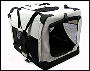 X Large Dog Pet Folding Canvas Carrier Transport Crate Xxl