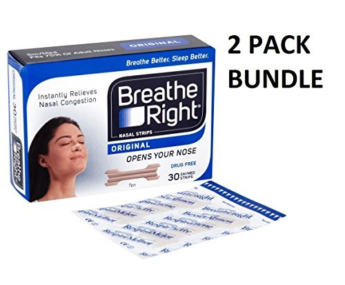 Breathe Right Nasal Strips Natural Regular 30 *2 PACKS* by Breathe Right -