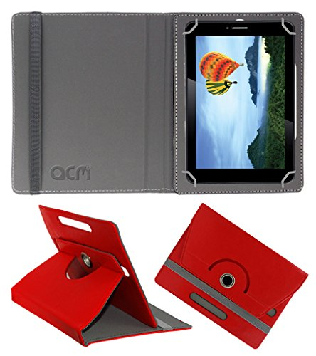 Acm Rotating 360° Leather Flip Case For Iball Slide 7236 2gi Tablet Cover Stand Red  available at amazon for Rs.149