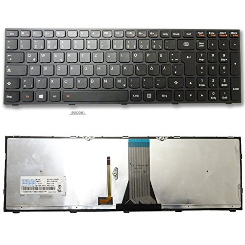 Tastatur für IBM Lenovo Ideapad Z51-70 M50-70 Z50-70 Z50-75 E50-80 E51-80 Serie DE Keyboard mit Beleuchtung schwarz