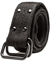 HEMOON Unisex Plain Canvas Webbing Military Web Adjustable Belt With Double Ring