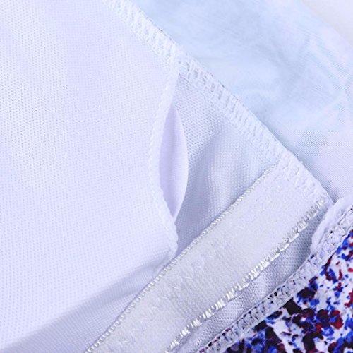 Maillot de Bain Femme 2 Pieces ❤️ Plus la Taille des Femmes à Manches Longues Imprimé Bikini Push-Up Rembourré Maillots de Bain Maillot purple