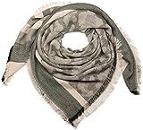 styleBREAKER XXL Viereckstuch mit Streifen und Camouflage Muster, Fransen, Winter Schal, Tuch, Unisex 01018148, Farbe:Rose-Grau