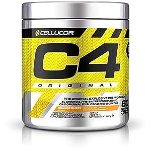 C4 Original Pre Workout Powder, Orange Burst, 60 Serving