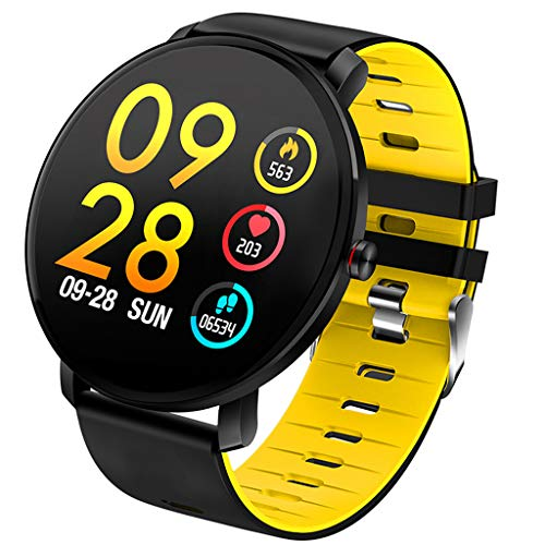YEARNLY Smartwatch Wasserdicht IP68 Smart Watch Uhr mit Pulsmesser Fitness Tracker Sport Uhr Fitness Uhr mit Schrittzähler,Schlaf-Monitor,Stoppuhr,Call SMS Benachrichtigung Push für Android und iOS