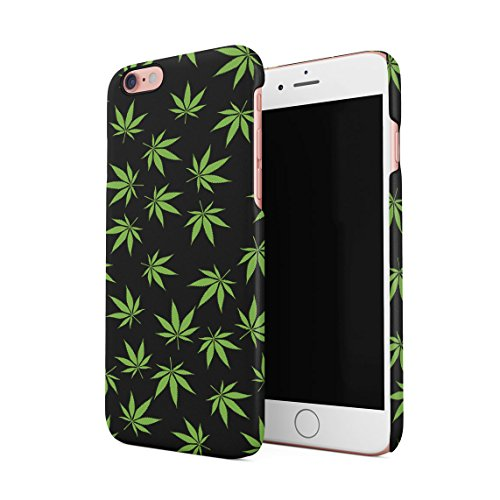Smoke Weed Everyday Marijuana Leaf Pattern Dünne Rückschale aus Hartplastik für iPhone 6 Plus & iPhone 6s Plus Handy Hülle Schutzhülle Slim Fit Case Cover