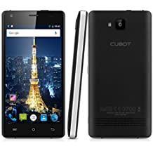 "Cubot Echo - Smartphone libre Android 6.0 (Pantalla 5.0"", Camara 8Mp, Quad Core 1.3GHz, 16GB ROM, 2GB RAM, HotKnot, OTG, Dual SIM), Negro"