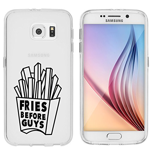 "Preisvergleich Produktbild Samsung Galaxy S6 Hülle von licaso® aus TPU schützt Dein S6 5,1"" Fries before Guys Pommes vor Homme Muster Schutz-Hülle Cover Case transparent klare Schutzhülle galaxys6 Tasche Silikon Style (Samsung Galaxy S6, Fries before Guys)"