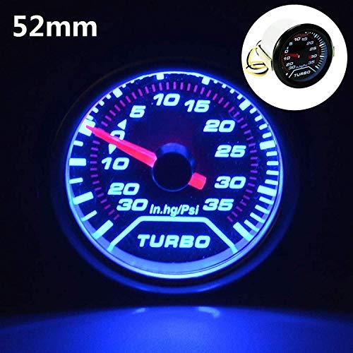 Voltage Meter Gauge 1 STÜCK 52mm Turbo Boost Manometer Meter Zifferblätter Geräucherte 30 Psi Pob LED zum Auto Automobil Kraftfahrzeug