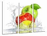 Cuadro Moderno Fotografico Composicion Frutas Manzana Agua, Fruteria, Cocina, 97 x 63 cm, Ref. 26934