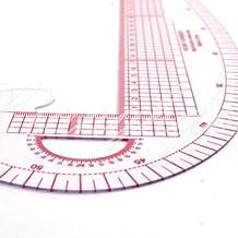 5Five - Regla de costura 3 en 1, sistema métrico, curva francesa, regla