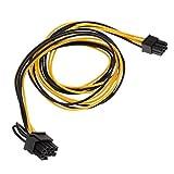 MagiDeal 1 Stück 6 Pin zu 8 Pin (6P+2P) Grafik Verlängerungskabel CPU PCI Express Netzteil Power Splitter Kabel für Video Grafikkarte - Als Bild - 0,7 meter