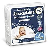 Babysom - Protège Matelas Bébé «2 en 1» - 70x140 cm - Drap housse + Alèse Imperméable - Jersey 100% Coton - Souple et Silencieux