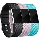 Humenn Bracelet de rechange en silicone souple pour Fitbit Charge 2 Small 3 Couleur-1