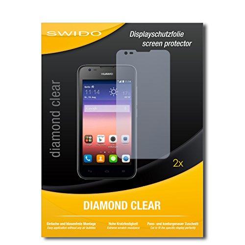2 x SWIDO® Bildschirmschutzfolie Huawei Ascend Y550 Schutzfolie Folie