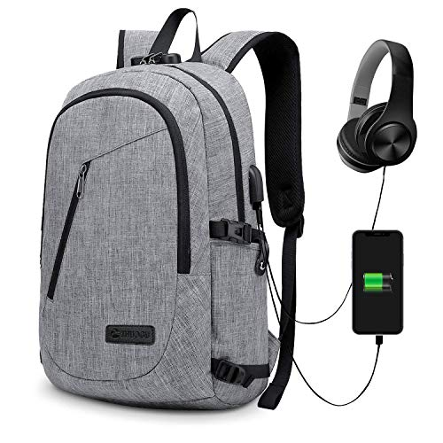 ecfa9e29a986 Anti-theft Business Laptop Backpack With USB Charge Port ,Lightweight  Outdoor Waterproof Travel College