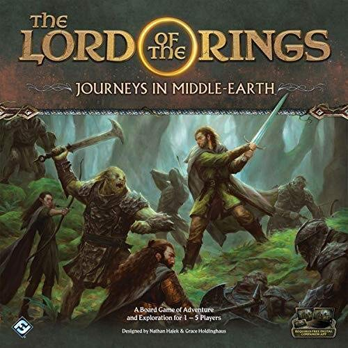 Fantasy Flight Games FFGJME01 Lord of the Rings: Journeys in Middle-Earth Board Game, Mixed Colours