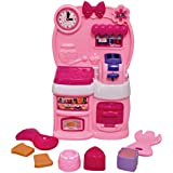 Toyshine Modern Kitchen Toy Set, Battery Operated Play Set With Music And Lights