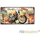 Placa Metal matrícula Vintage–Harley Route 66Color–(15x 30cm)