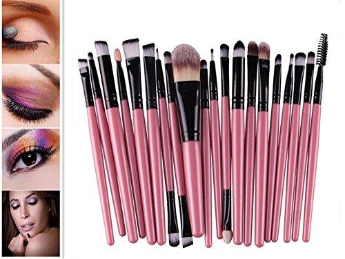Cdet 20 Pcs Make-up Pinsel Lange Pole Kosmetik Pinsel Für Beauty Augenbürste Schönheitswerkzeuge Augenschattenbürste Augenbrauenpinsel Stiftungsbürste Lippen Bürste (Schaum Ziel Womens)