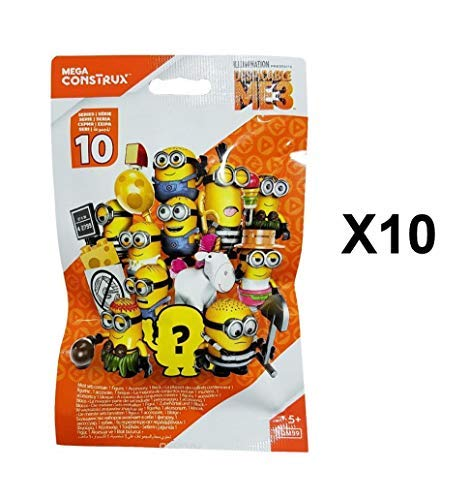 Construx Minions Series 10 Minifigur Blind Bag Party Geschenke - 10er Packung ()