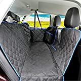 SUPSOO Dog Seat Cover for Back Seat Waterproof Durable Anti-Scratch Nonslip Pet Protection Dog Travel Hammock with Mesh Window and Side Flaps for Cars Trucks SUV