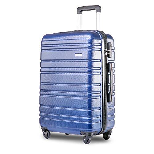 a0b8f7f8be8c Merax ® Lightweight Hard Shell 4 Wheel Travel Trolley Suitcase Luggage Set  Holdall Cabin Case (