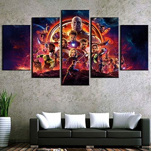 XLST Modern Wall Art Prints 5 Unidades Vengadores