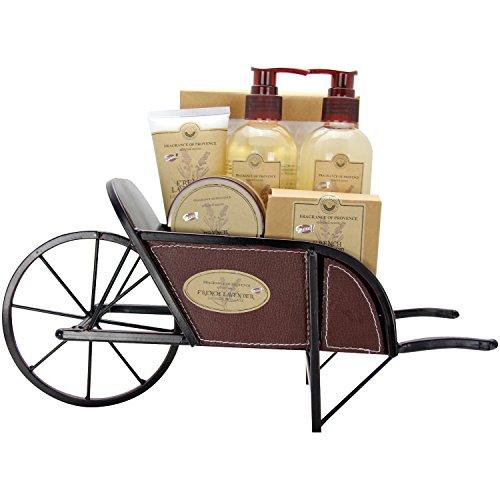 Gloss! Geschenkset Badeset Schubkarre Premium - French Lavender, 1er Pack (1 x 1 Stück) Geschenk-Box - Bade-Geschenk