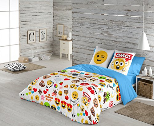 Emoji Funda nórdica Party cama 90 cm