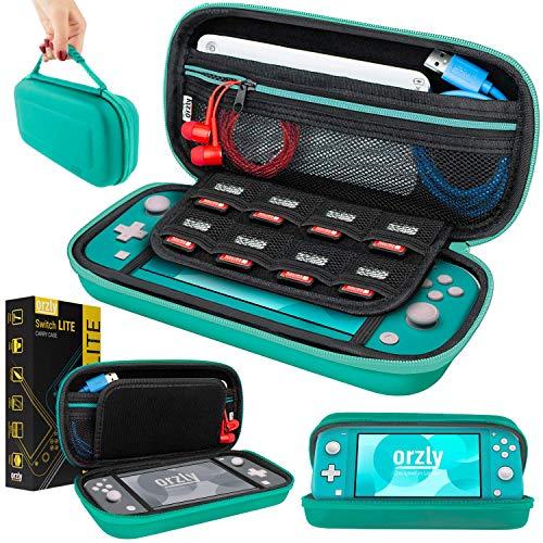 ORZLY Custodia da Viaggio per Nintendo Switch Lite, Guscio Protettivo Portatile per Console Nintendo Switch Lite (2019) - Turchese Blu