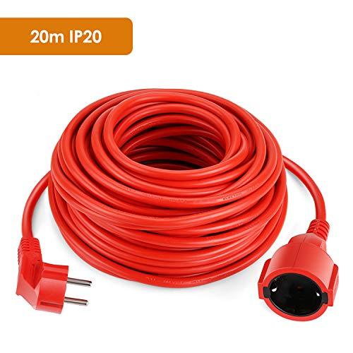 SIMBR Alargador Electrico 20m Cable Alargador Corriente