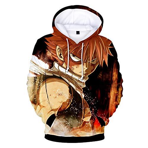 Tail Karikatur 3D Drucken Kapuzenpullover Trendiger Locker Cozy Sweatshirts Fallen Winter Reine Baumwolle mit Kaputze ()