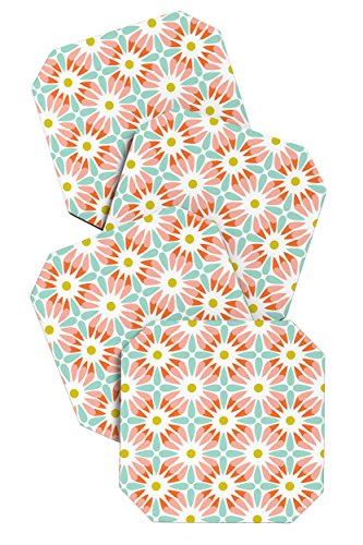 DENY Designs Heather Dutton Crazy Daisy Sorbet Untersetzer, 4 Stück -