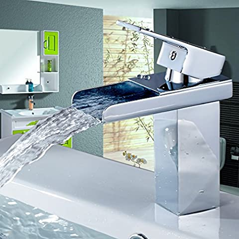 Auralum® Miscelatore lavabo rubinetto bagno monocomando colore Cromo