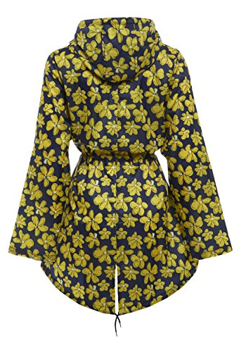 RainyDays Damen Regenmäntel Regenjacke Yellow Flower - Ella Raincoat