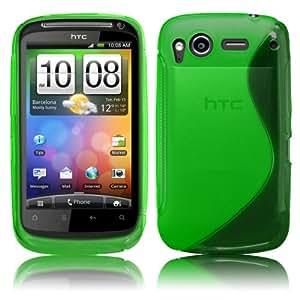 Grün TPU Silikon Case für HTC Desire S