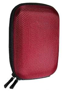Hartschalentasche in rot und Display Schutzfolie für Sony Cyber-shot DSC-TX30 - NEUE MAßE AB 01.11.2013