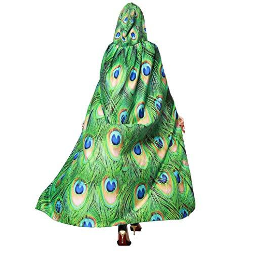 (Heißer TIFY Damen Halloween Cape Party Cosplay Kürbis Print Kostüm Fee Pixie Vertuschen Schal Accessory135-175cm)