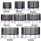 Gartentrampolin Kindertrampolin Trampolin 305 bis 310 cm lila komplettes Set mit Sicherheitsnetz und Einstiegsleiter …