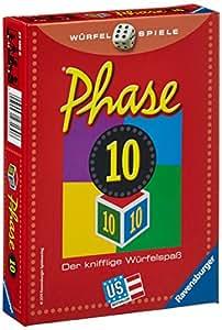 Ravensburger - 27130 - Jeu de dés - Phase 10 - Langue : allemand