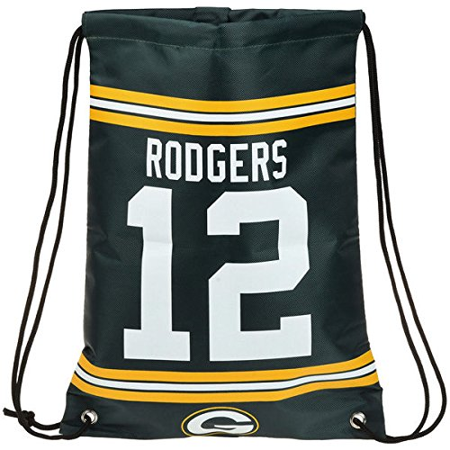 Forever Collectibles NFL Green Bay Packers Aaron Rodgers Kordelzug Rucksack, 18in. X 13,5in.