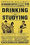 Close Up Drinking vs. Studying Poster (58,5cm x 89cm)
